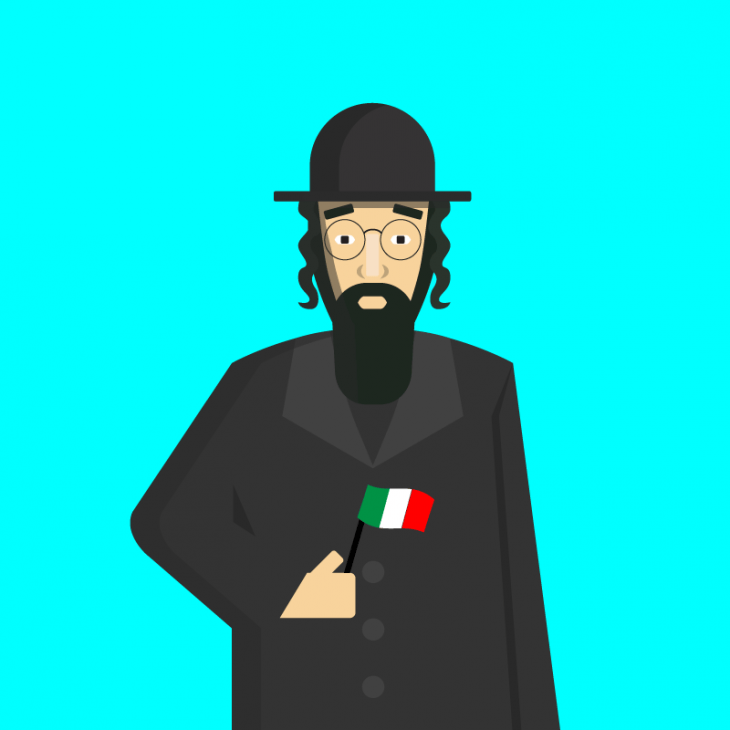 Уморительнейший анекдот про Рабиновича и его поездку в Италию